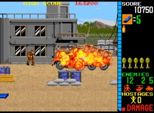 Operation Wolf arcade game enemy soldiers