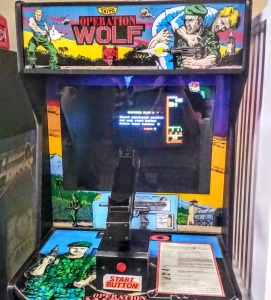 Operation Wolf arcade game cabinet