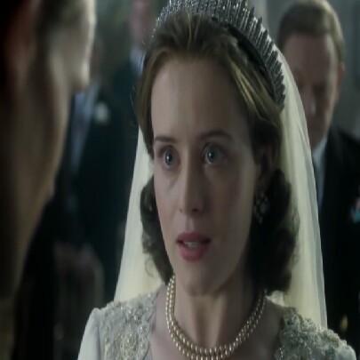 Princess Elizabeth Windsor wedding dress the crown Netflix Claire Foy