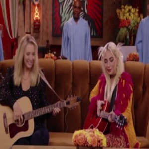 Lady gaga playing smelly cat song with Lisa Kudrow Friends the reunion hbo max