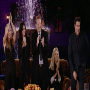 Friends the reunion hbo max James corden interview fountain