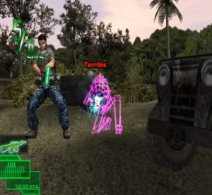 Enemies shooting Ranger Mission arcade game