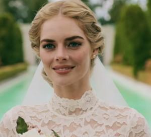 Beautiful grace de Lomas white wedding dress Ready or Not Samara Weaving