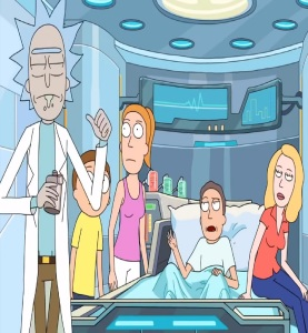 Jerry Smith hospital bed Rick and Morty cartoon network adult swim