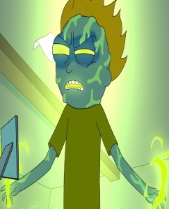 Morty Smith goes Evil Rick and Morty cartoon network adult swim