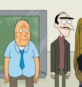 Unibrow man Rick and Morty cartoon network adult swim