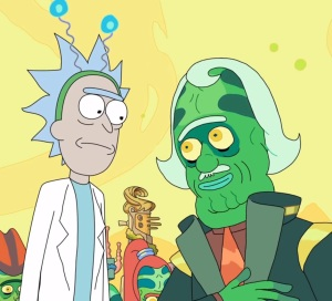 The planet inside Rick Sanchez's battery Rick and Morty cartoon network adult swim