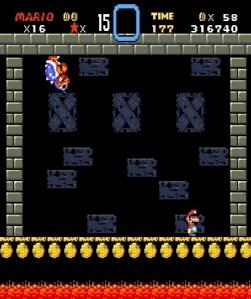 Mario vs Roy Koopa super Mario World snes super Nintendo