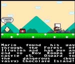Roy Koopa castle destroyed super Mario World snes super Nintendo