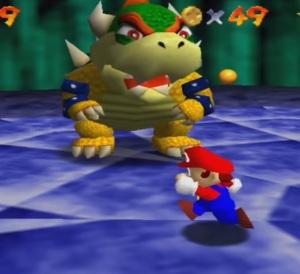 Bowser first battle Super Mario 64 Nintendo 64 N64
