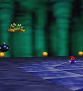 Mario throws Bowser Super Mario 64 Nintendo 64 N64