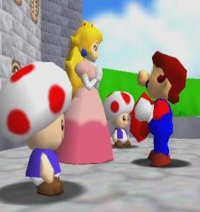 Mario saves Princess Peach Super Mario 64 Nintendo 64 N64