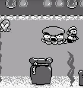 Pako boss battle Super Mario Land 2 Nintendo Gameboy