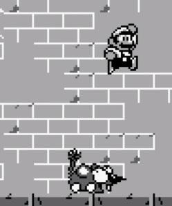 Sewer rat boss battle Super Mario Land 2 Nintendo Gameboy