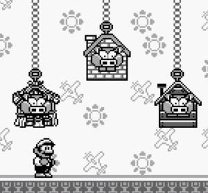 Mario vs Three Little Pigheads Super Mario Land 2 Nintendo Gameboy