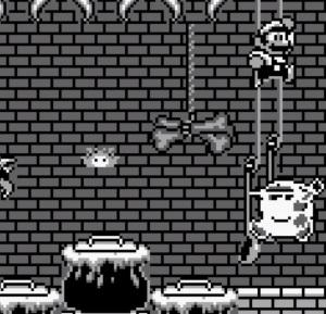 Mario vs witch super Mario Land 2 Nintendo Gameboy