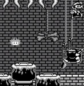 Witch boss battle Super Mario Land 2 Nintendo Gameboy