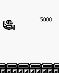 Biokinton defeated by Mario super Mario Land Nintendo Gameboy