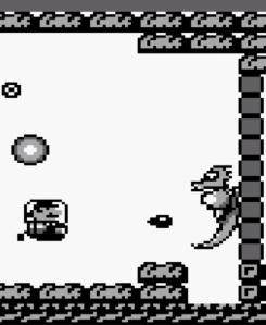 Mario submarine vs Dragonzamsu super Mario Land Nintendo Gameboy