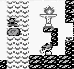 Hiyoihoi boss fight super Mario Land Nintendo Gameboy