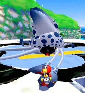 Mario vs Gooper Blooper Super Mario Sunshine Nintendo gamecube