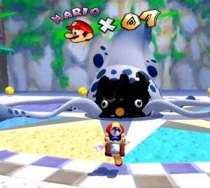 Gooper Blooper Super Mario Sunshine boss battle Nintendo gamecube
