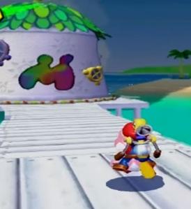 Mario and pink Yoshi Super Mario Sunshine Nintendo GameCube