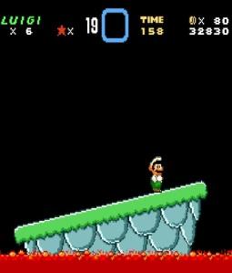 Iggy Koopa falls in lava super Mario World snes super Nintendo