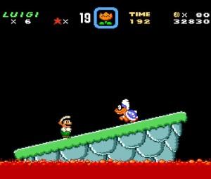 Luigi VS Iggy Koopa super Mario World snes super Nintendo