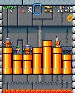 Lemmy Koopa vs Luigi super Mario World snes super Nintendo