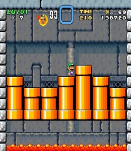 Lemmy Koopa boss battle Super Mario World snes super Nintendo