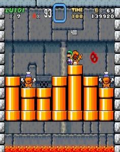Luigi VS Lemmy Koopa super Mario World snes super Nintendo