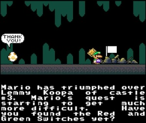 Lemmy Koopa castle destroyed super Mario World snes super Nintendo