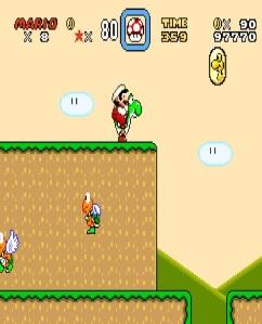 Mario and yoshi super Mario World snes super Nintendo