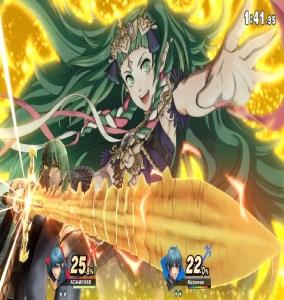 Female Byleth and Sothis final Smash super Smash Bros ultimate Nintendo Switch