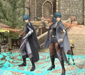 Male and Female Byleth super Smash Bros ultimate Nintendo Switch