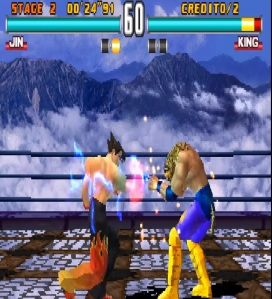 Jin vs King Tekken 3 Namco arcade PlayStation