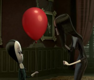 Wednesday Addams red balloon The Addams Family 2019