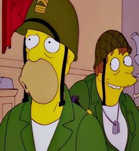 Abe Simpson world War 2 Germany art castle heist the Simpsons