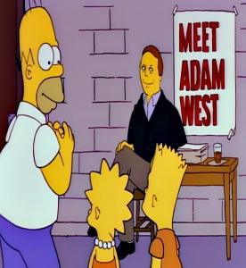 Adam West cameo the Simpsons Batman