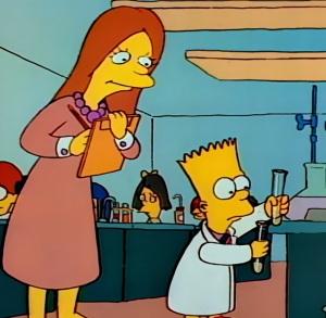 Bart Simpson science lab explosion the Simpsons fox