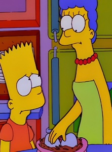 Bart Simpson mothering bird eggs the Simpsons