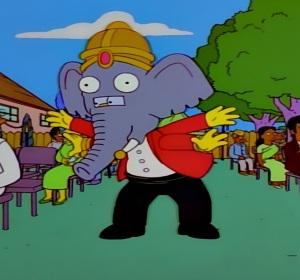 Ganesh Homer Simpson cosplay Apu wedding the Simpsons