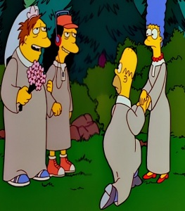 Barney gumble marries Otto the Simpsons religious cult