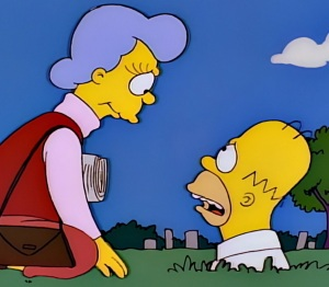Mona Simpson reunited with son Homer the Simpsons