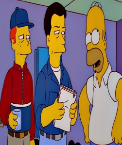 Homer Simpson meets Ron Howard and Alec Baldwin the Simpsons