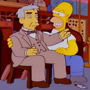 Homer Simpson idolized Thomas Edison the Simpsons