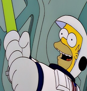 Homer Simpson becomes an astronaut the Simpsons