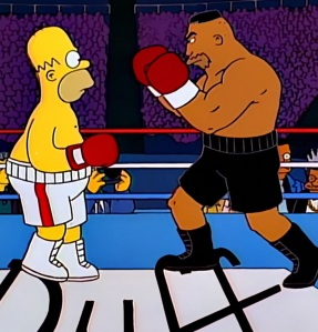 Homer Simpson heavyweight championship boxing the Simpsons Mike Tyson