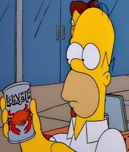 Homer Simpson drinks krab juice the Simpsons